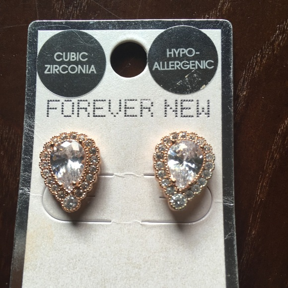 163664154 Forever New Jewelry | Beautiful Cubic Zirconia Earrings Rose Gold ...